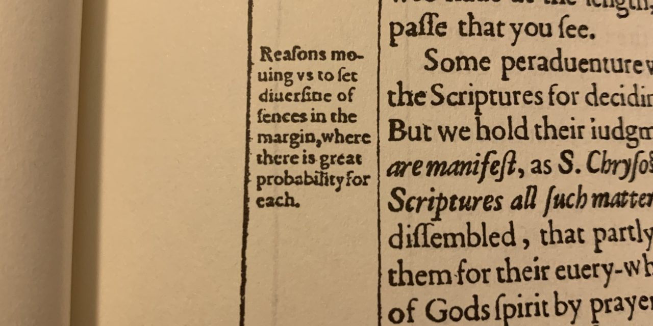 The Five Types Of Marginal Notes In The King James Bible